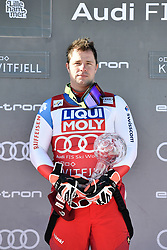 07.03.2020, Kvitfjell, NOR, FIS Weltcup Ski Alpin, Herren, Siegerehrung, Abfahrt Weltcup, im Bild Beat Feuz (SUI, erster Platz Abfahrts Weltcup) // Beat Feuz (SUI, first place Downhill World Cup) during the winner Ceremony for the men's downhill Worlcup rating of FIS ski alpine world cup. Kvitfjell, Norway on 2020/03/07. EXPA Pictures © 2020, PhotoCredit: EXPA/ ZOOM
