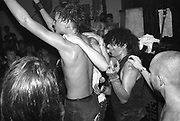 Charlie Harper in  the Crowd, UK Subs concert, High Wycombe, UK, 1980s.
