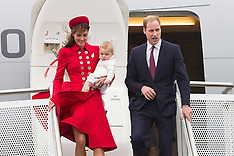 Wellington-Royal Visit, arrival at Wellington Airport