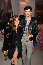 Jazzy de Lisser and Max Hurd at the Tatler's English Roses 2017 party in association with Michael Kors held at the Saatchi Gallery, London England. 29 June 2017.