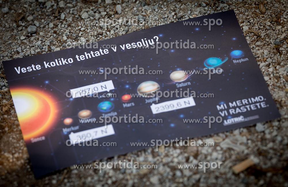 Dan inovatorjev, simulacija s prikazom, koliko posameznik tehta na različnih planetih v vesolju, ki jo je predstavilo podjetje Lotrič Metrology, on April 9, 2017 in Tehniški muzej Slovenije, Bistra pri Vrhniki, Slovenia. Photo by Vid Ponikvar / Sportida