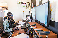 Ranger base operational center using smart technology, Zakouma National Park, Chad