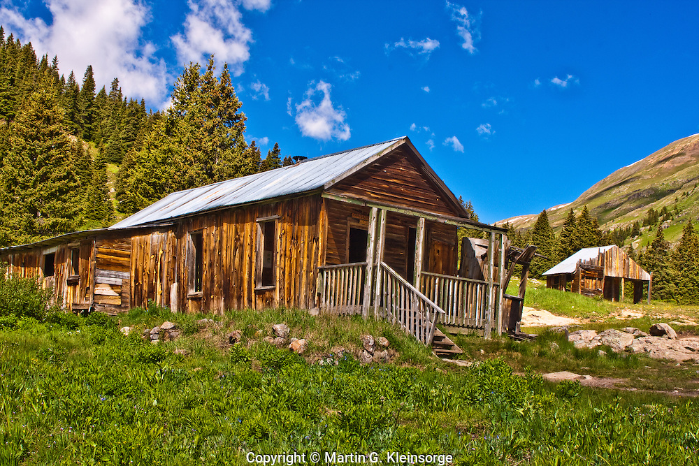 An old house at the historic mining town of Animas Forks, San Juan Mountains, Colorado