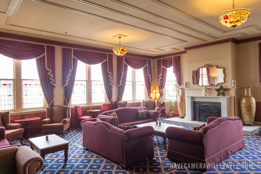 A lounge inside the historic Carrington Hotel in Katoomba in the Blue Mountains of New South Wales, Australia. The Carrington is an historic hotel established in 1880.
