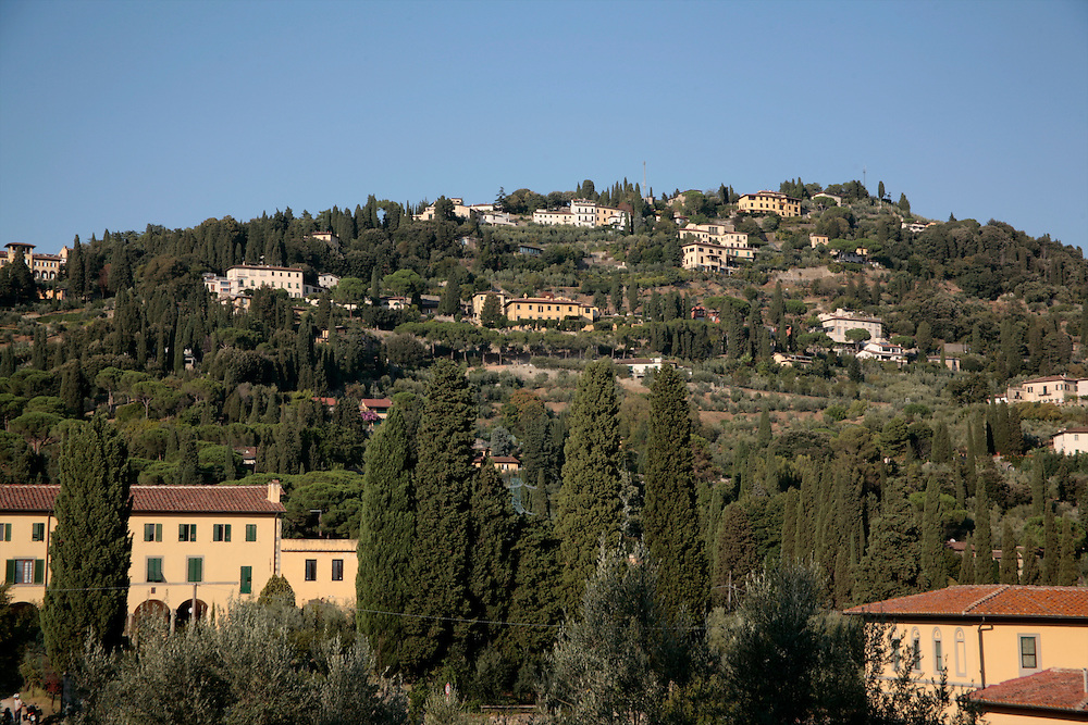 Fiesole, panoramic showing hilltop location, Fiesole, Florence, Italy, Florence, Italy