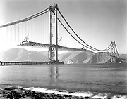 Historical Photos of The World's Most Iconic Landmarks Before They Were Finished<br /> <br /> The world's most iconic landmarks are a big draw for tourists from around the world. But these historical landmarks are not just tourist attractions, they often serve as a milestone in history or a remarkable event in time.<br /> <br /> Photo shows: The Golden Gate Bridge, 1936<br /> ©Golden Gate Bridge, Highway and Transportation District/Exclusivepix Media