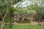 A view of the Central Causeway and monuments in Group D of the Cham Temple ruins at the My Son Sanctuary, Quang Nam Province, Vietnam, Southeast Asia