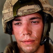 Aug 13, 2009 - Kandahar Province, Afghanistan - Canadian Soldier Pvt. Patrice Brouillet age 22, seen after a Patrol in extreme heat in the volatile Panjway District located west of Kandahar City, Afghanistan. This is Canada's first combat deployment since the Korean War. Canada has suffered one of the highest casualty rates of the war in Afghanistan and has announced that it will be pulling out all Canadian combat troops by 2011. <br /> The Canadian Press Images/Louie Palu<br /> CANADIAN SALES AND USE ONLY. NO INTERNATIONAL SALES OR USE.