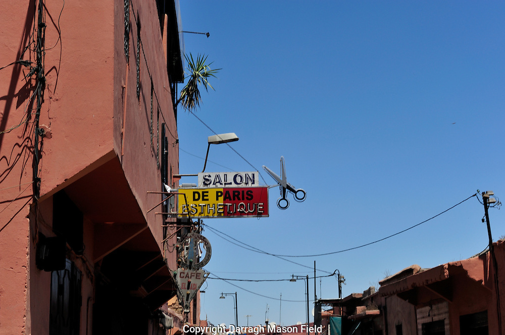 Salon street sign in Marrakesh