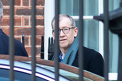 © Licensed to London News Pictures. 30/01/2018. London, UK. British Prime Minister Theresa May's husband Philip May leaves Downing Street for a diplomatic and trade visit to China. Photo credit : Tom Nicholson/LNP