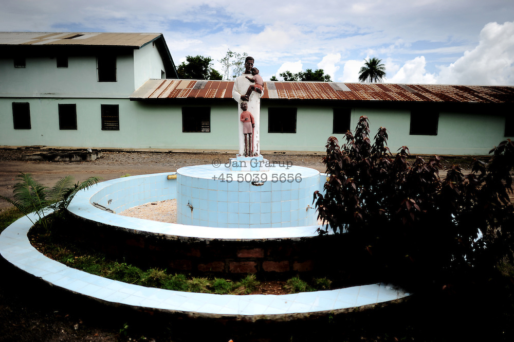 The grounds of St John of God hospital in Lunsar, Sierra Leone, the private catholic hospital is one of the best in the country and is funded by Spain.