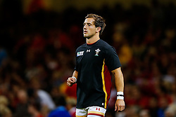 Wales replacement Matthew Morgan looks on during the warm up - Mandatory byline: Rogan Thomson/JMP - 07966 386802 - 20/09/2015 - RUGBY UNION - Millennium Stadium - Cardiff, Wales - Wales v Uruguay - Rugby World Cup 2015 Pool A.