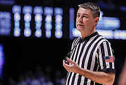 CINCINNATI, OH - FEBRUARY 13: NCAA basketball referee Pat Driscoll is seen during the Xavier Musketeers and Creighton Bluejays game at Cintas Center on February 13, 2019 in Cincinnati, Ohio. (Photo by Michael Hickey/Getty Images) *** Local Caption *** Pat Driscoll