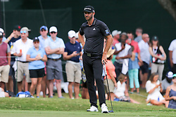 September 22, 2018 - Atlanta, Georgia, United States - Dustin Johnson waits to putt the 9th green during the third round of the 2018 TOUR Championship. (Credit Image: © Debby Wong/ZUMA Wire)