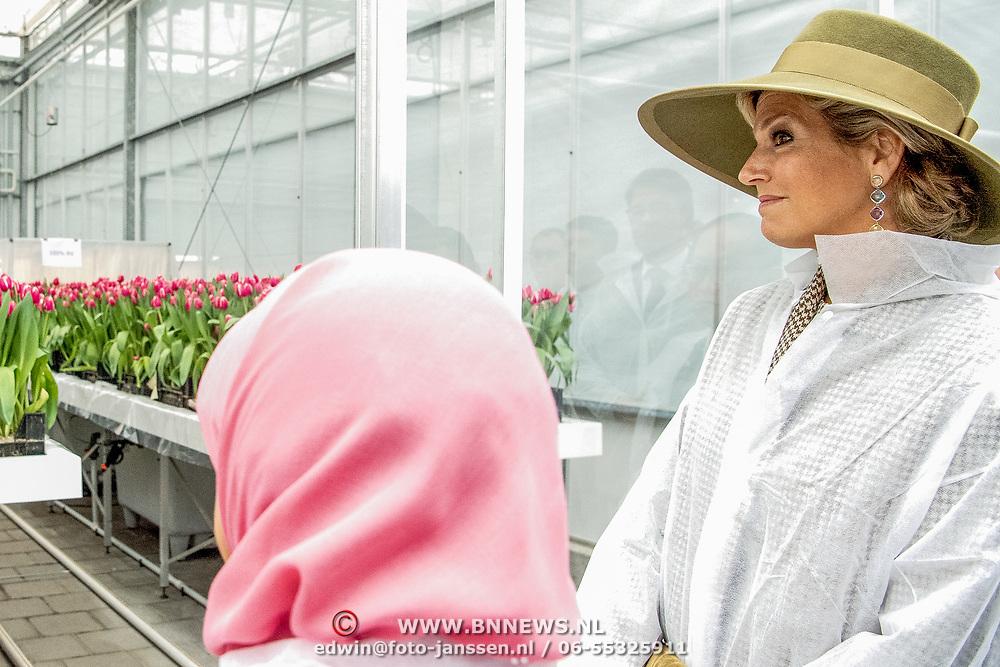 NLD/Bleiswijk/20181122 - Koningin Maxima en president Halimah brengenbezoek aan Horticultural Centre Bleiswijk, Koningin Maxima