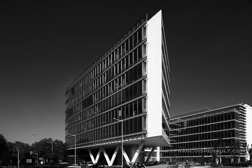 Immeuble Miami, Parc Silc, Rungis, France. Réalisation: Silic propriétaire constructeur. Architecte: Arnaud Fontani.
