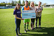 Wellchild cheque presentation during the Vanarama National League match between Forest Green Rovers and Maidstone United at the New Lawn, Forest Green, United Kingdom on 22 April 2017. Photo by Shane Healey.