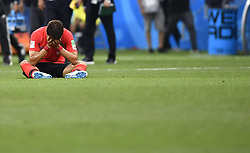 June 23, 2018 - Rostov-on-Don, Russia - Jung Wooyoung of South Korea reacts after the 2018 FIFA World Cup Group F match between South Korea and Mexico in Rostov-on-Don, Russia, June 23, 2018. Mexico won 2-1. (Credit Image: © Chen Yichen/Xinhua via ZUMA Wire)