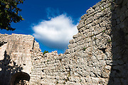 Wall and cloud, St. Michael's Fort (13th Century Venetian ruins) Ugljan Island, Dalmatian Coast, Croatia