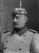 Helmuth Johann Ludwig von Moltke (1848-1916 Moltke the Younger) Chief of the German General Staff 1906-1914. Nephew of Field Marshal von Moltke (1800-1891). Soldier Uniform  Pickelhelm