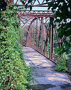 Historic Schell Bridge over the Connectictut River at Northfield, MA