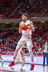 NORMAL, IL - February 16: Zach Copeland pulls in a rebound during a college basketball game between the ISU Redbirds and the Bradley Braves on February 16 2019 at Redbird Arena in Normal, IL. (Photo by Alan Look)