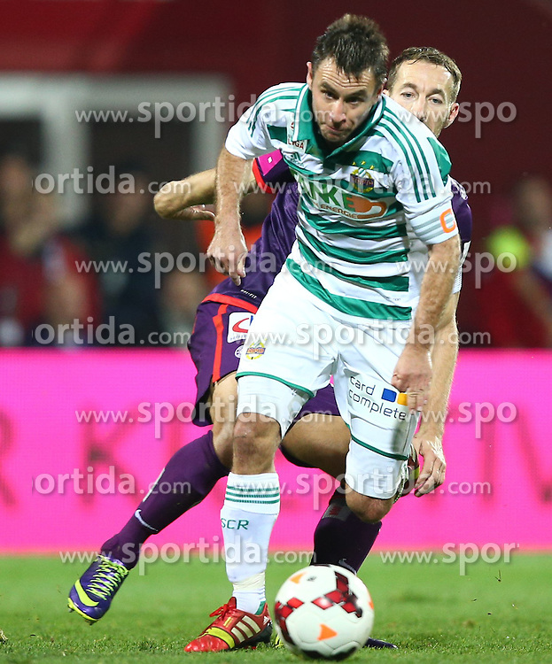 27.10.2013, Generali Arena, Wien, AUT, 1. FBL, FK Austria Wien vs SK Rapid Wien, 13. Runde, im Bild Steffen Hofmann, (SK Rapid Wien, #11) und Manuel Ortlechner, (FK Austria Wien, #14) // during Austrian Bundesliga Football 13th round match, between FK Austria Vienna and SK Rapid Wien at the Generali Arena, Wien, Austria on 2013/10/27. EXPA Pictures © 2013, PhotoCredit: EXPA/ Thomas Haumer
