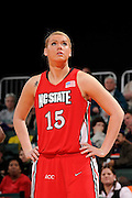 January 22, 2009: Inga Muciniece of the North Carolina State Wolfpack in action during the NCAA basketball game between the Miami Hurricanes and the North Carolina State Wolfpack. The 'Canes defeated the Wolfpack 72-60.