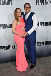 August 30, 2018 - Los Angeles, California, USA - 8/28/18.Erin Carufel and Scott Connors at the premiere of ''Peppermint'' held at the Regal Cinemas LA Live in Los Angeles, CA, USA. (Credit Image: © Starmax/Newscom via ZUMA Press)