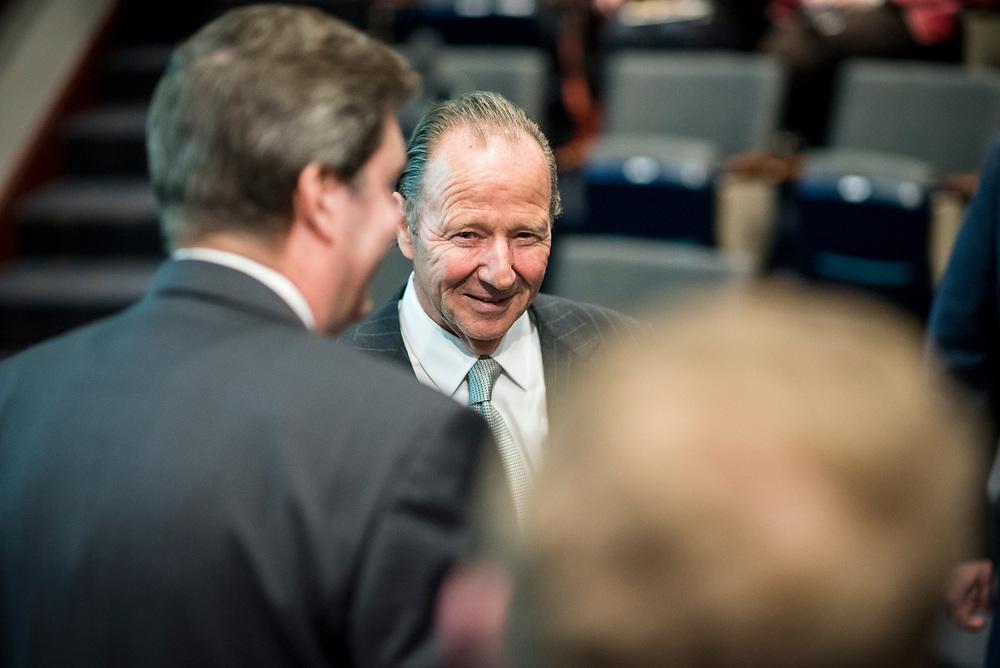 Timothy Barnard speaks at the Pigott Entrepreneurship Lecture on Mar 1, 2018 in the Wolff Auditorium.