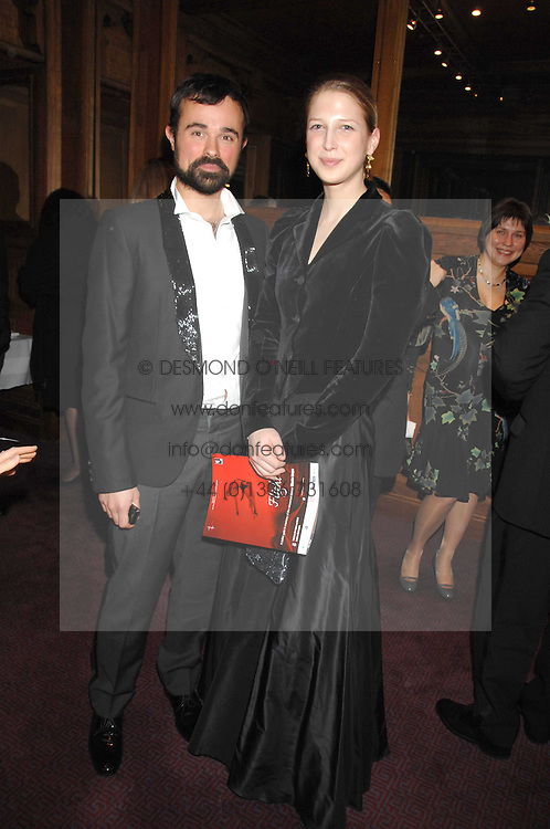 EVGENY LEBEDEV and LADY GABRIELLA WINDSOR at a gala in aid of the Raisa Gorbachev Charitable Foundation in honour of the late Russian dancer Maris Liepa held at The London Coliseum, London on 24th February 2008.<br />