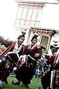 Cultural performance at hotel — lamp dance, Leh.
