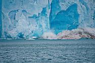 Alberto Carrera, Arctic Lands, Ice Calving, Deep Blue Glacier, Signehamna Harbor, Nordvest-Spitsbergen National Park, Krossfjord, Arctic, Spitsbergen, Svalbard, Norway, Europe