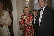 Dame Vivian Clore and Nat Rothschild, Ark Gala Dinner, Marlborough House, London. 5 May 2006. ONE TIME USE ONLY - DO NOT ARCHIVE  © Copyright Photograph by Dafydd Jones 66 Stockwell Park Rd. London SW9 0DA Tel 020 7733 0108 www.dafjones.com