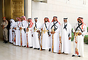 Ceremonial palace guard at King's Palace in Saudi Arabia