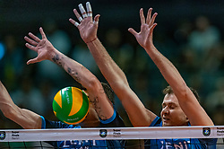 18-05-2019 GER: CEV CL Super Finals Zenit Kazan - Cucine Lube Civitanova, Berlin<br /> Civitanova win the Champions League by beating Zenit in four sets / Matthew John Anderson #1 of Zenit Kazan, Alexey Samoylenko #13 of Zenit Kazan