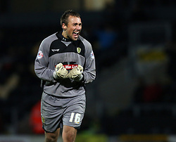 Burton Albion's Dean Lyness celebrates the second goal-Photo mandatory by-line: Matt Bunn/JMP - Tel: Mobile: 07966 386802 10/11/2013 - SPORT - FOOTBALL - Pirelli Stadium - Burton upon Trent - Burton Albion v Hereford United - FA Cup