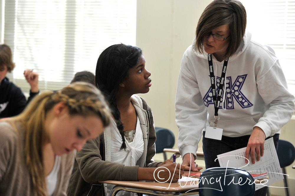 Ardrey Kell High School classroom Ms P Paulsen  English class