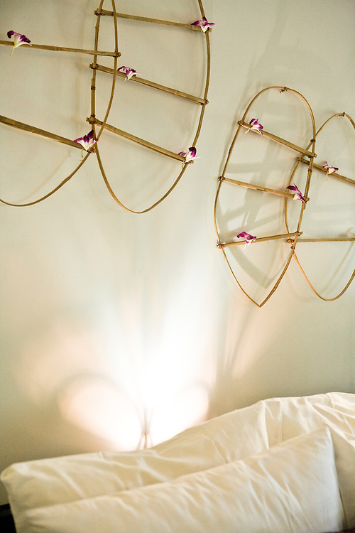 Bedroom art at Soujourn resort. Siem Reap, Cambodia. Siem Reap, Cambodia