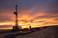 Oil rig in southeastern Wyoming on January 30, 2011.