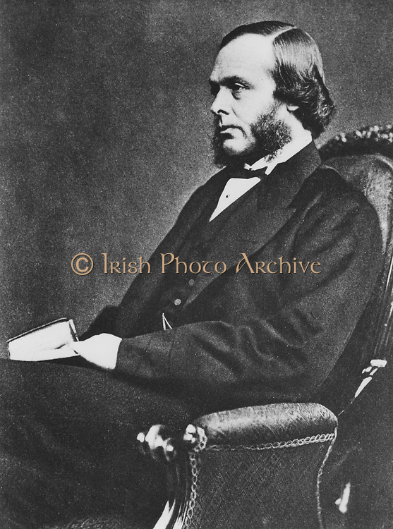 Joseh Lister (1827-1912), English surgeon and pioneer of antiseptic surgery, c1867. From a photograph taken when he was about 40.