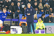 David Moyes during the Premier League match between Leicester City and West Ham United at the King Power Stadium, Leicester, England on 22 January 2020.