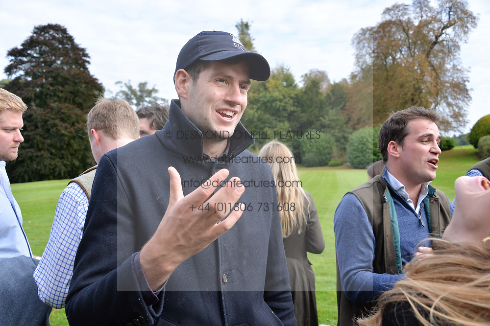Hughie Pike at Young Guns raising money for the fight against breast cancer trough Cancer Research UK held at EJ Churchill Shooting School followed by lunch at West Wycombe Park, England. 23 September 2017.