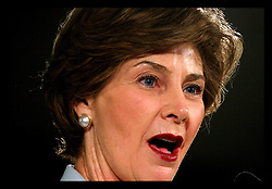 31 May, 2006. Tulane University, New Orleans, Louisiana. First Lady, Mrs Laura Bush gives the keynote speech at the Conference on New Orleans Cultural Rebirth at Tulane University.