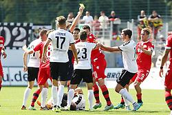 01.06.2015, Hardtwald, Sandhausen, GER, 2. FBL, SV Sandhausen vs 1. FC Union Berlin, 2. Runde, im Bild Nach einem Foul an der Mittellinie kommt es zu Streitereien // during the 2nd German Bundesliga 2nd round match between SV Sandhausen and 1. FC Union Berlin at the Hardtwald in Sandhausen, Germany on 2015/06/01. EXPA Pictures &copy; 2015, PhotoCredit: EXPA/ Eibner-Pressefoto/ Bermel<br /> <br /> *****ATTENTION - OUT of GER*****