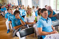 Vasilij Zbogar during presentation of Slovenian Olympic and Paralympic team for London 2012, on July 6, 2012 in Ljubljana's Castle, Ljubljana, Slovenia.  (Photo by Vid Ponikvar / Sportida.com)