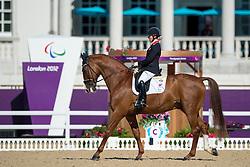 Wells Sophie (GBR) - Pinocchio<br /> Team Test - Grade IV - Dressage <br /> London 2012 Paralympic Games<br /> © Hippo Foto - Jon Stroud