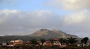 Volcano cones near La Oliva, Fuerteventura, Canary Islands, Spain