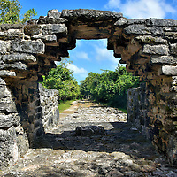 Archway over Sacbé at San Gervasio near San Miguel, Cozumel, Mexico<br />