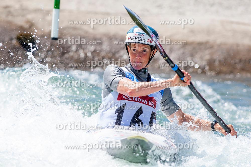 Violeta Oblinger-Peters of Austria during Kayak(K1) Women final race at ICF Canoe Slalom World Cup Sloka 2013, on August 18, 2013, in Tacen, Ljubljana, Slovenia. (Photo by Urban Urbanc / Sportida.com)